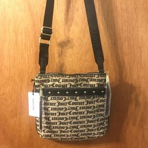 Black and Grey Juicy Couture Crossbody Bag